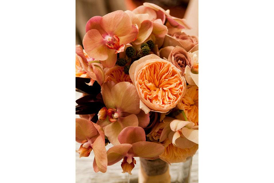 Bridal-Bouquet-Garden-Roses,-Blackberries,-Phalaenopsis-orchids_9402784009_m